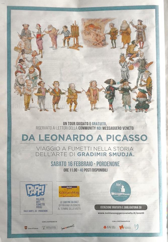 Visita guidata mostra per i lettori del Messaggero Veneto