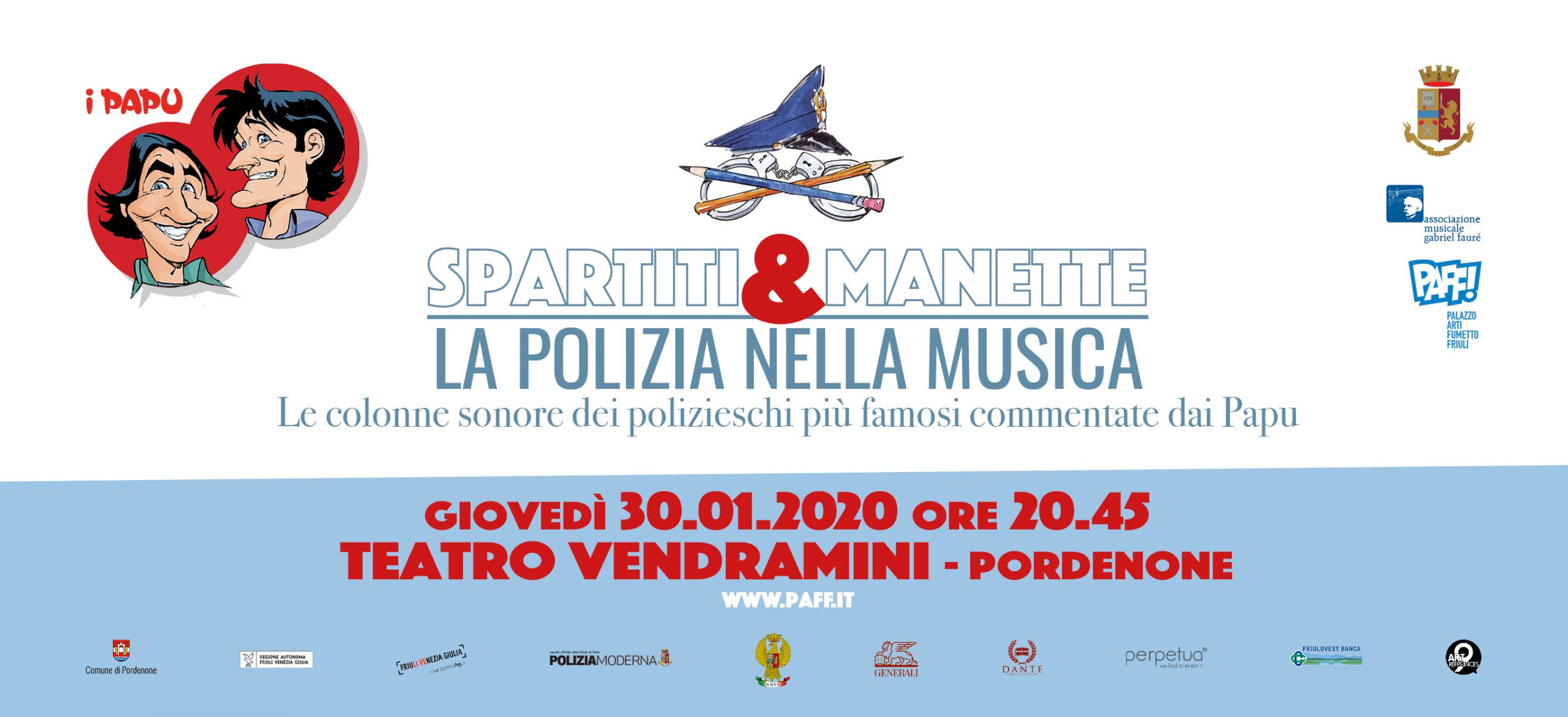 Spettacolo musicale: Spartiti & Manette, la Polizia nella Musica con i PAPU