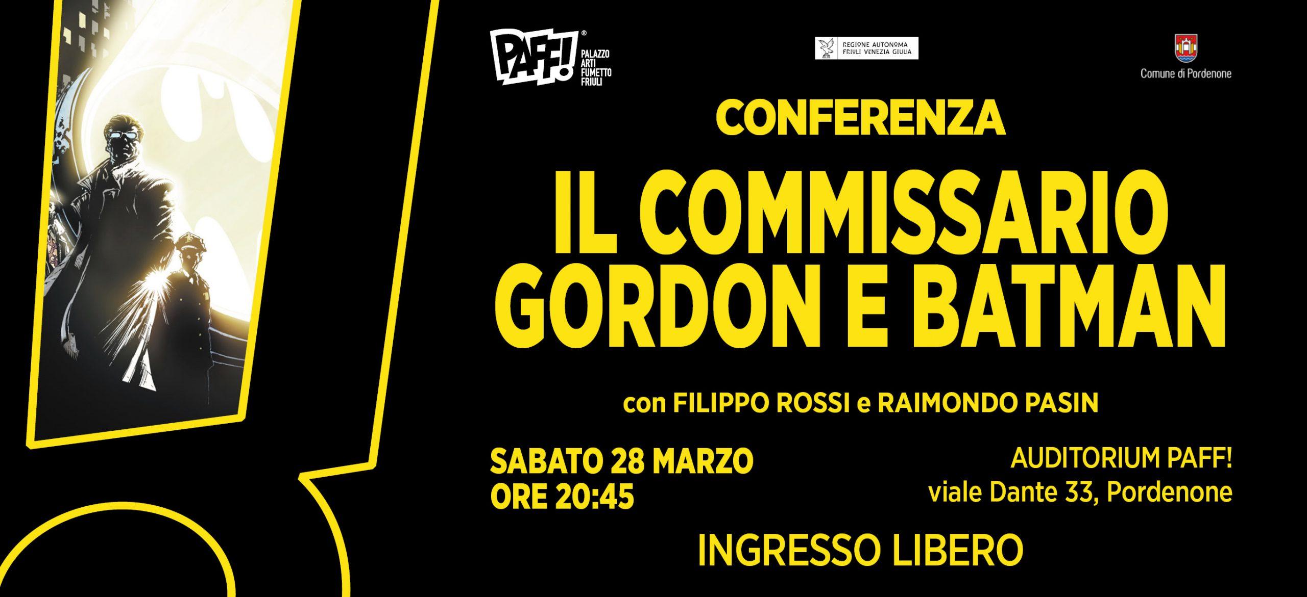 Conferenza Il Commissario Gordon e Batman