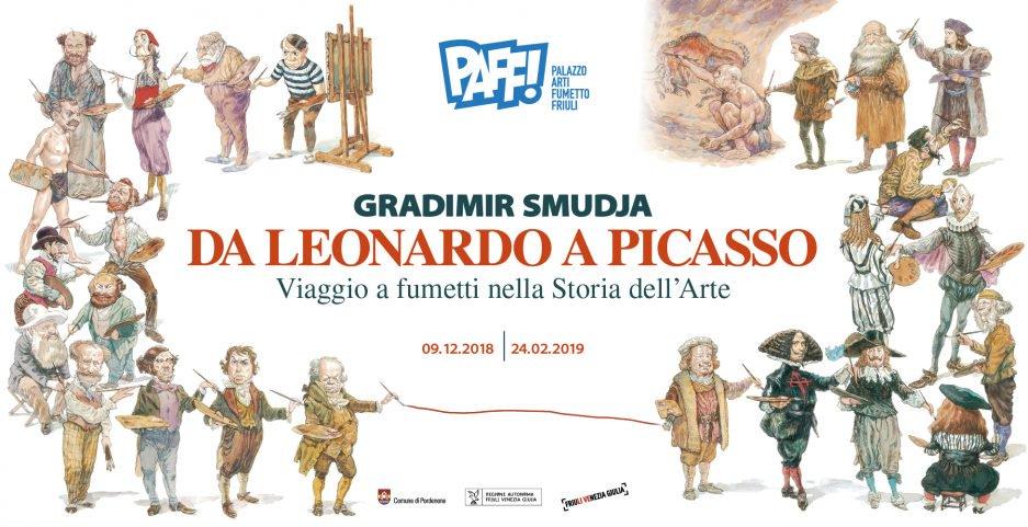 Gradimir Smudja: da Leonardo a Picasso, viaggio a fumetti nella Storia dell'Arte
