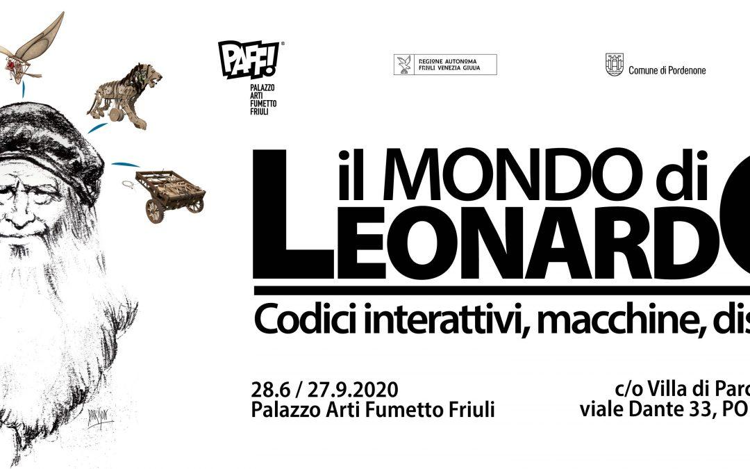il Mondo di Leonardo: codici interattivi, macchine, disegni