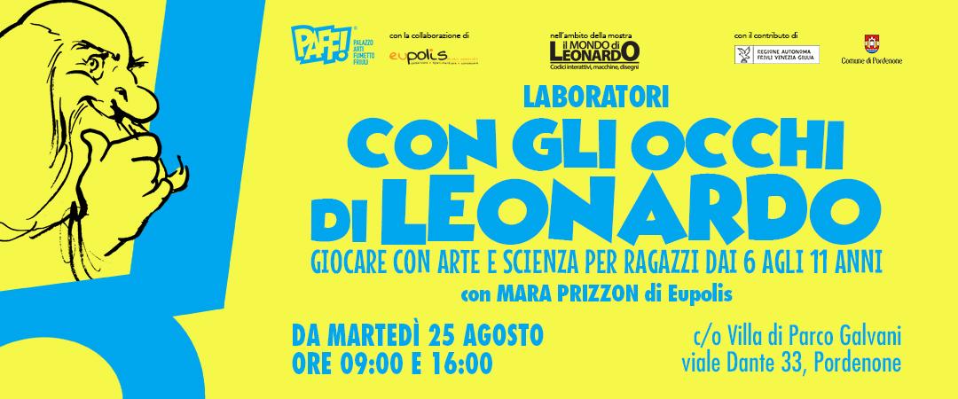 Con gli occhi di Leonardo – Laboratori per ragazzi