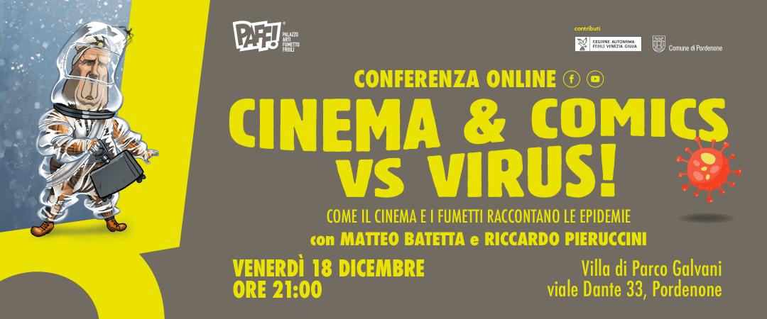 CINEMA & COMICS VS VIRUS! – Come il cinema e i fumetti raccontano le epidemie