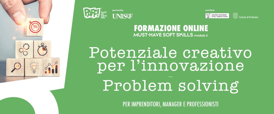 MUST-HAVE SOFT SKILLS – Potenziale creativo per l'innovazione e problem solving