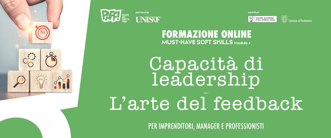 MUST-HAVE SOFT SKILLS – Capacità di leadership e l'arte del feedback