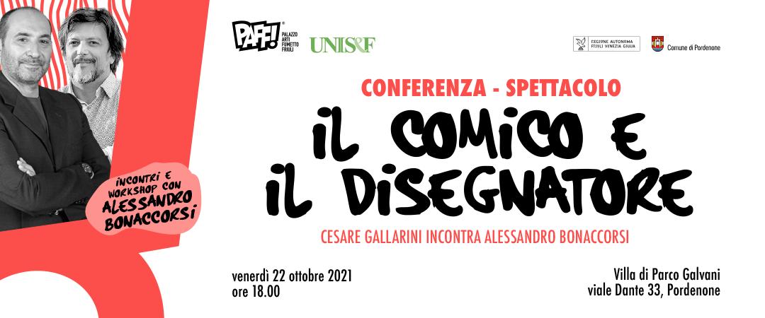 Conferenza spettacolo: il comico e il disegnatore